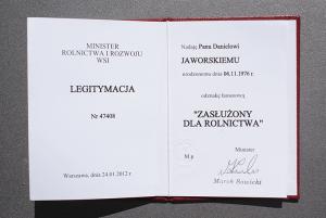 """, Odznaka honorowa """"Zasłużony Dla Rolnictwa"""", Suszarnia Warzyw Jaworski"""